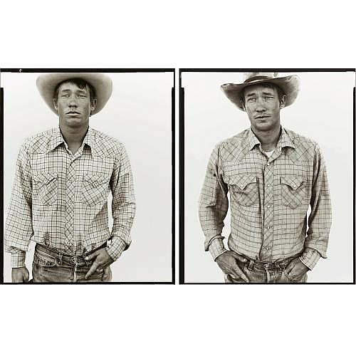 Richard Avedon 1923-2004 , 'richard wheatcroft, rancher, jordan, montana, 6/19/81 and 6/27/83'