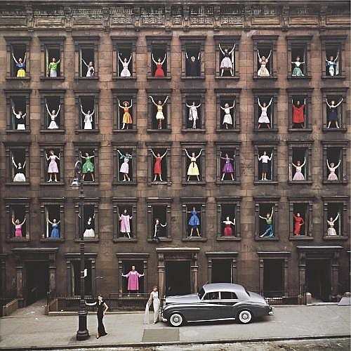 Ormond Gigli b. 1925 , 'girls [models] in the windows, new york city'