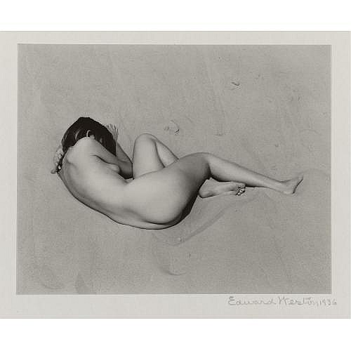Edward Weston 1886-1958 , 'nude on sand'