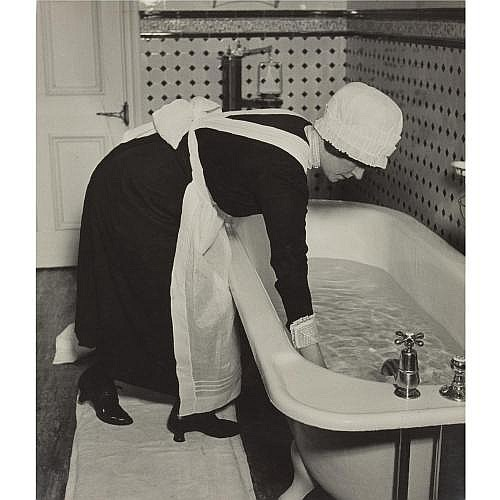 Bill Brandt 1904-1983 , 'parlour maid prepairing a bath' (mayfair)