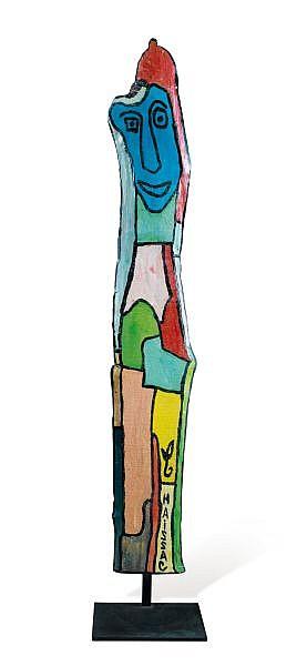 Gaston Chaissac , 1904-1964 Totem huile sur bois