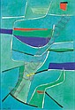 Gustave Singier , 1904-1984 Solitude - Oliviers et la mer huile sur toile   , Gustave Singier, Click for value
