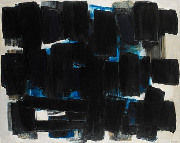 - Pierre Soulages , n. 1919 Peinture, 20 juin 1957 huile sur toile