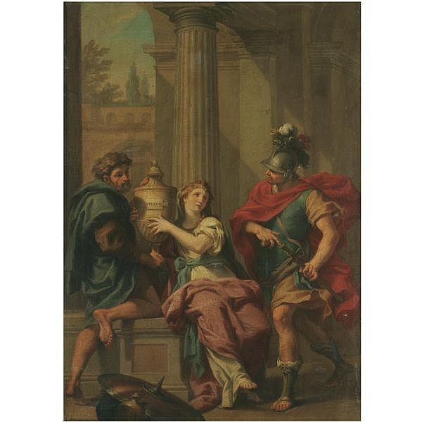 Jacopo Alessandro Calvi, called il Sordino , Bologna 1740-1815   Electra and Orestes oil on canvas