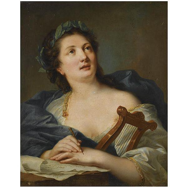Johann Heinrich Wilhelm Tischbein , Haina 1751 - 1829 Eutin A muse oil on canvas