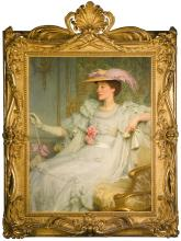 SIR FRANK DICKSEE P.R.A. | Portrait of Lady Hillingdon