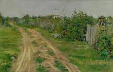 WILLIAM MERRITT CHASE 1849 - 1916 | The Old Road, Flatbush
