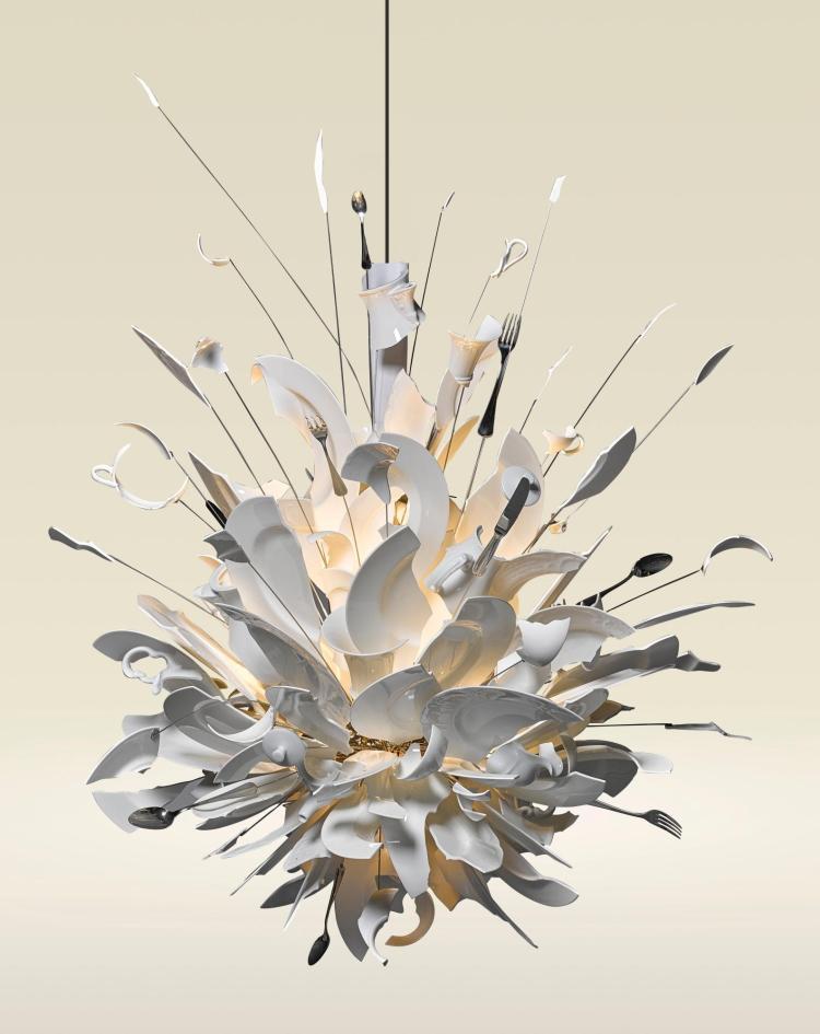 ingo maurer 39 porca miseria 39 chandelier. Black Bedroom Furniture Sets. Home Design Ideas