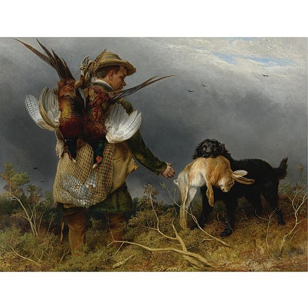 Richard Ansdell, R.A. , British 1815-1885 Shooting The Covers oil on canvas