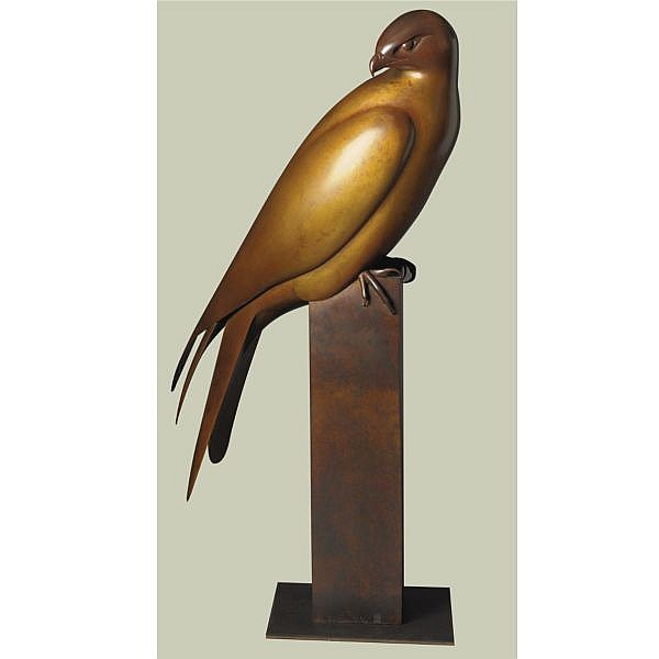 Geoffrey Dashwood , British b. 1947 Red Kite bronze, brown patina