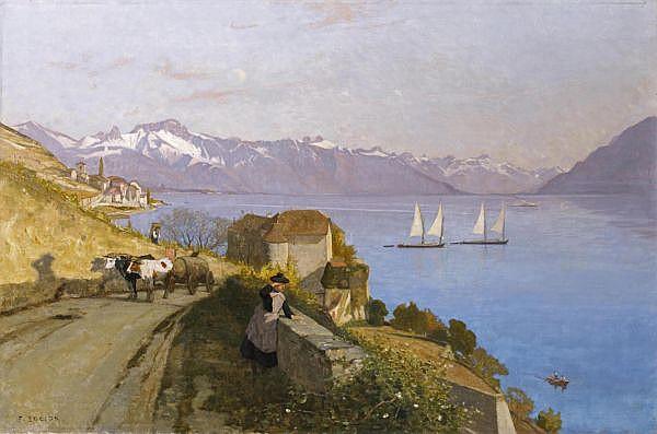 François Bocion 1828-1890 Öl auf Leinwand