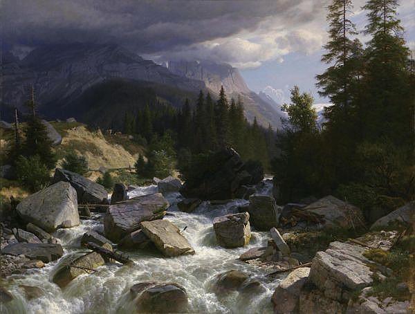 - Johann Gottfried Steffan 1815 - 1905   Öl auf Leinwand