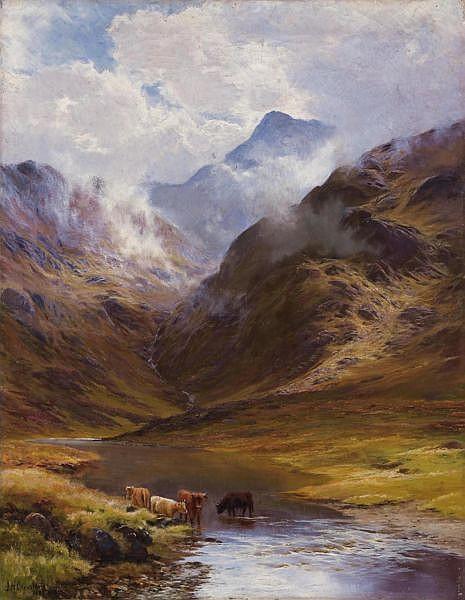 James Henry Crossland 1852-1904 Öl auf Leinwand