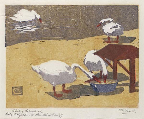 - Martha Cunz 1876-1961 Originalholzschnitt Handdruck Nr. 29