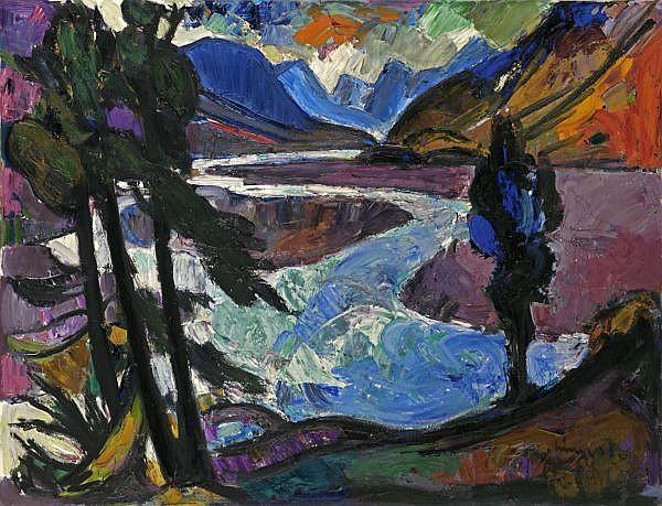 Carl Liner (Junior) 1914-1997   Öl auf Leinwand