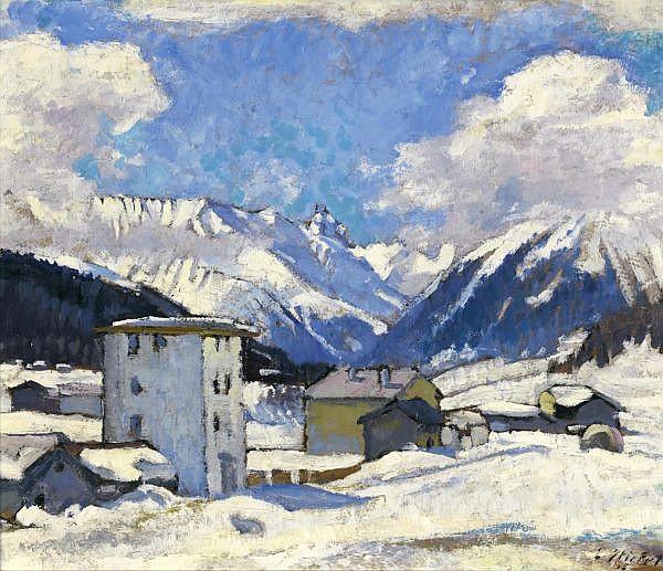 Eduard Stiefel 1875-1967 Öl auf Karton