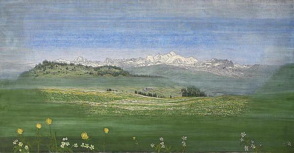 - Alexandre Perrier 1862-1936 Kohle, Öl und Tempera auf Leinwand