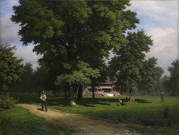 Robert Zünd 1827-1909   Öl auf Leinwand