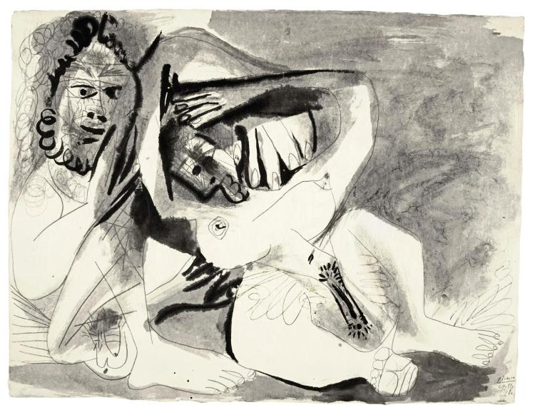 PABLO PICASSO   Homme et femme nus