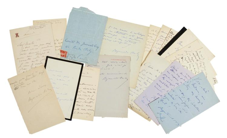 R. HAHN, NINETEEN AUTOGRAPH LETTERS SIGNED, INCLUDING TO THE CRITIC ROBERT BRUSSEL