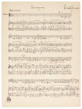 R. STRAUSS, AUTOGRAPH MANUSCRIPT OF THE FINAL SCENE OF THE OPERA