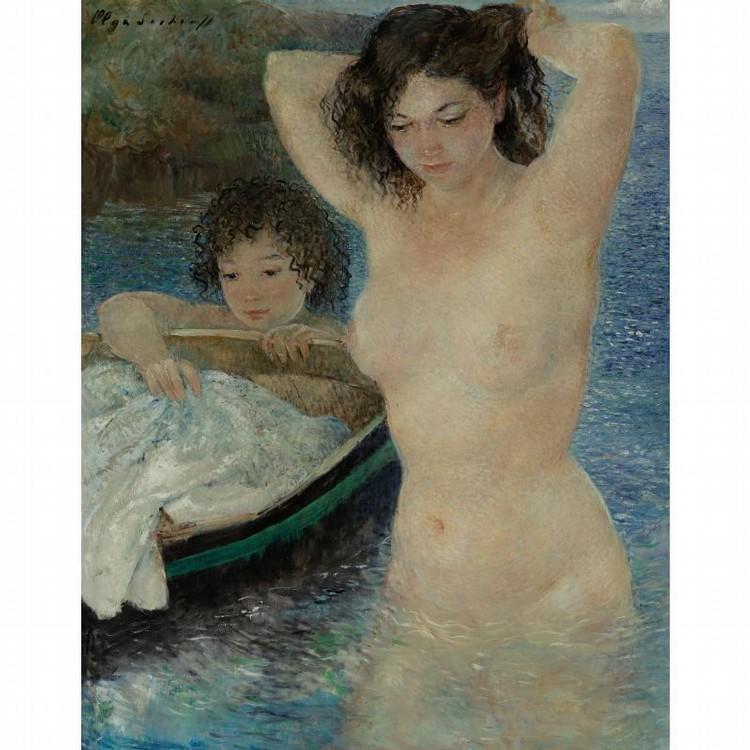 OLGA SACHAROFF RUSSIAN, 1889-1967 THE BATHERS