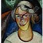 ALEXANDER KONSTANTINOVICH BOGOMAZOV RUSSIAN, 1880-1930 PORTRAIT OF A WOMAN