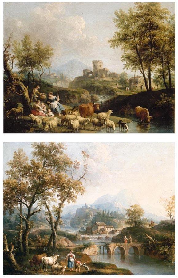 GIOVANNI BATTISTA CIMAROLI SALÒ, NEAR BRESCIA 1687-1771 VENICE A PASTORAL LANDSCAPE WITH