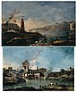 FRANCESCO GUARDI VENICE 1712 - 1793 A CAPRICCIO LANDSCAPE WITH A RUSTIC VILLAGE AND MEDIEVAL, Francesco Guardi, Click for value