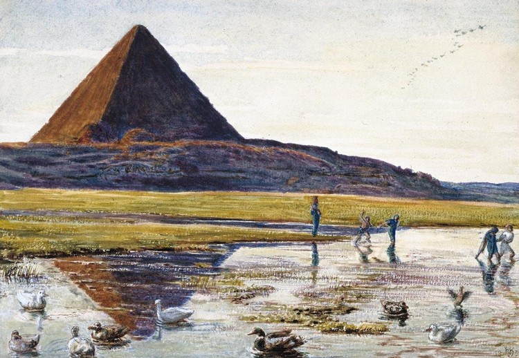 WILLIAM HOLMAN HUNT O.M., R.W.S., A.R.S.A. 1827-1910 THE GREAT PYRAMID