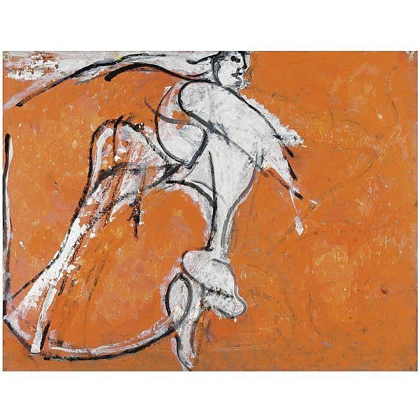 - Osvaldo Licini , 1894-1958 Angelo ribelle su fondo rosa olio su tela