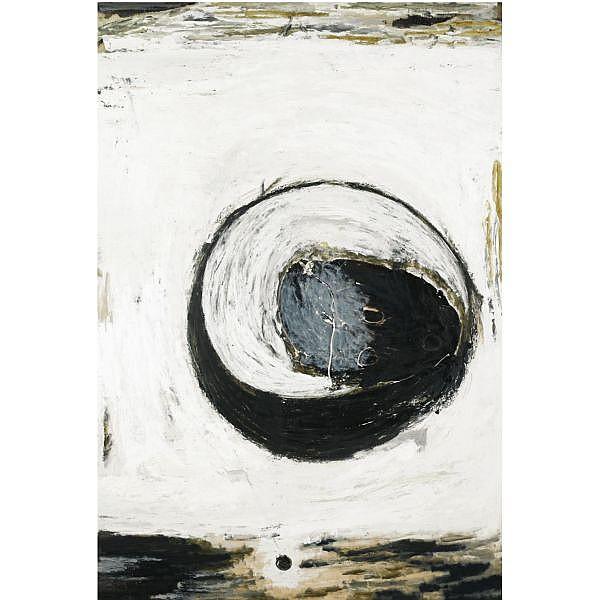 - Gianni Dessi , b. 1955 Senza titolo olio su tavola applicata su tela