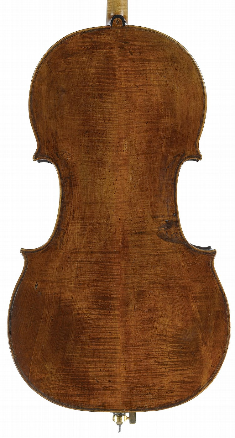 ATTRIBUTED TO GIUSEPPE GUARNERI FILIUS ANDREÆ(CREMONA, B 1666; D 1739)A CELLO, 18TH CENTURY
