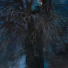 JIM DINE | The Blue of Autumn (with a Red Light)