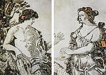 VIK MUNIZ   Apollo and the Cumaean Sibyl, after Giovanni Domenico Cerrini (From Pictures of Junk)