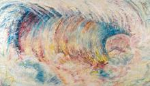 PAT STEIR | Summer: The Wave After Courbet as though Painted by Monet