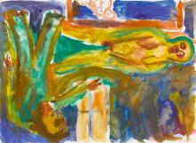 GEORG BASELITZ | Untitled (Liebespaar)