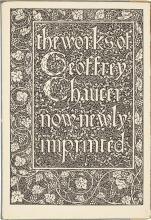 [KELMSCOTT PRESS]. THE WORKS OF GEOFFREY CHAUCER. HAMMERSMITH: WILLIAM MORRIS AT THE KELMSCOTT PRESS: 1896