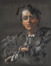 ANTONIO MANCINI | Portrait of W.B. Yeats