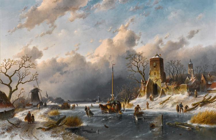 CHARLES LEICKERT   A Winter Scene
