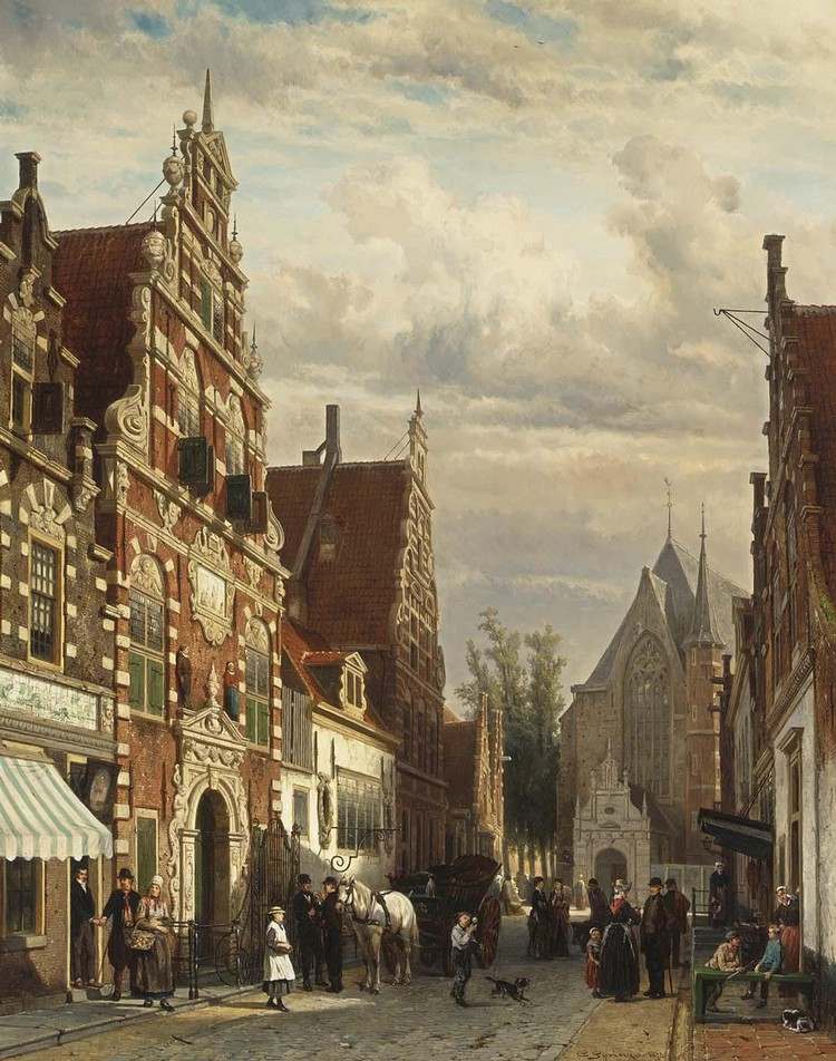 CORNELIS SPRINGER DUTCH, 1817-1891