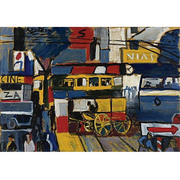 Augusto Torres (1913-1992) , Street Scene, Montevideo