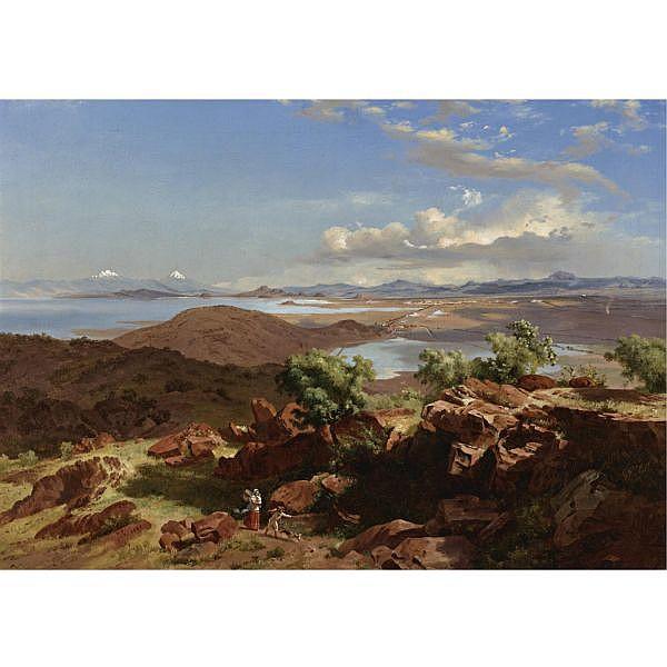 José María Velasco (1840-1912) , El Valle de México desde el cerro de Santa Isabel (The Valley of Mexico from the Hillside of Santa Isabel)