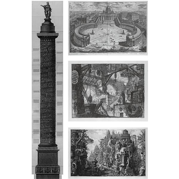 Giovanni Battista and Francesco Piranesi , 1720-1778 and 1756-1810 Opera, comprising 22 works in 15 volumes