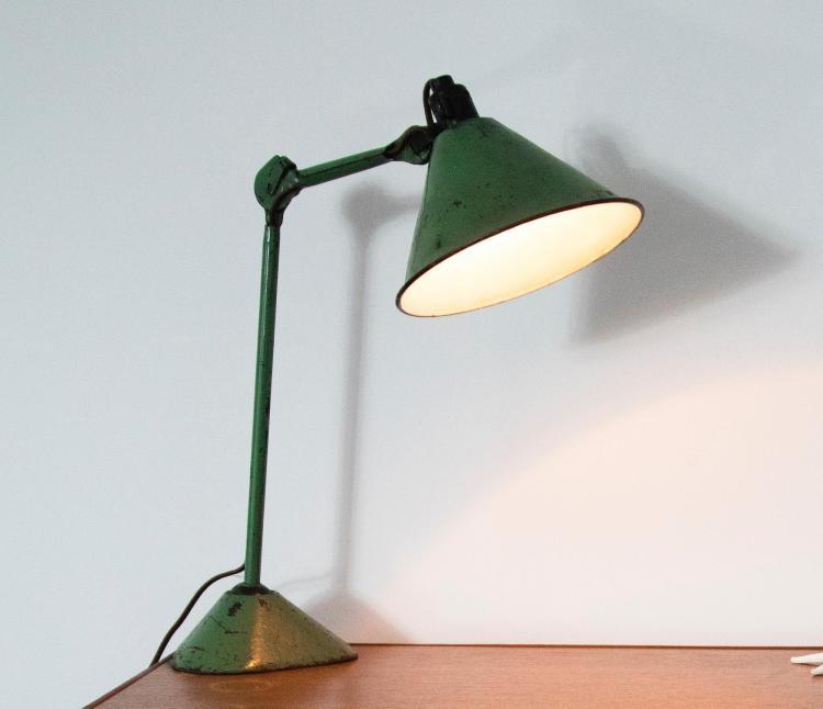 BERNARD-ALBIN GRAS   Adjustable Table Lamp, Model No. 205