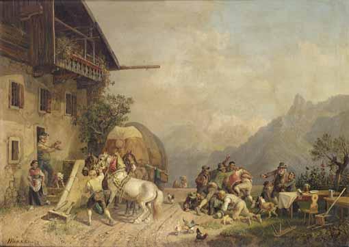 HEINRICH BÜRKEL GERMAN, 1802-1869