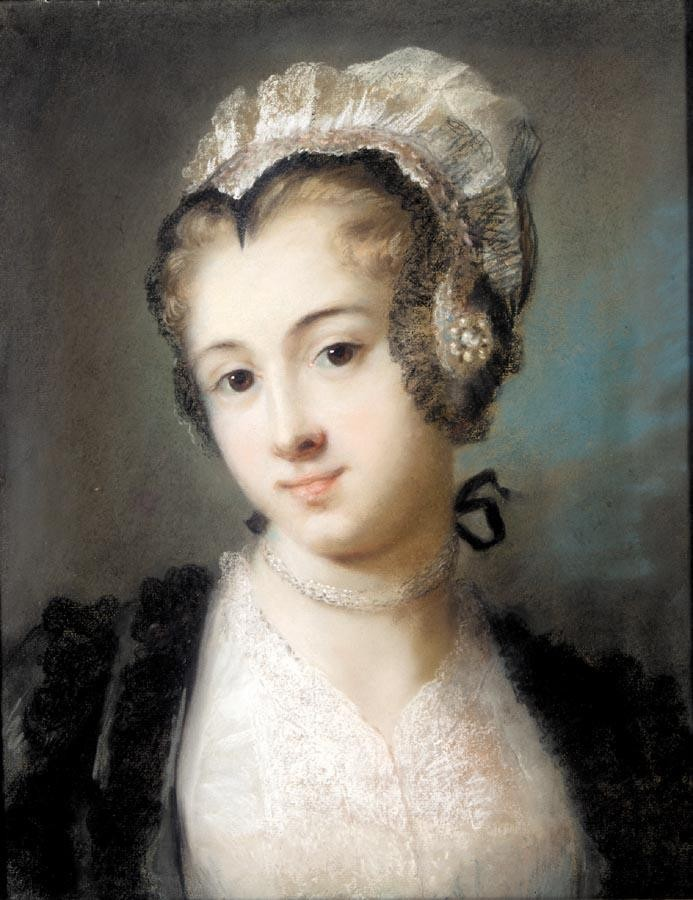 ROSALBA CARRIERA VENICE 1675 - 1757 A YOUNG WOMAN IN TYROLEAN COSTUME