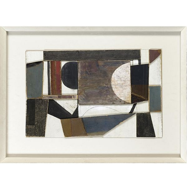 Wilhelmina Barns-Graham , 1912-2004 composition II painted wooden construction and pencil on board