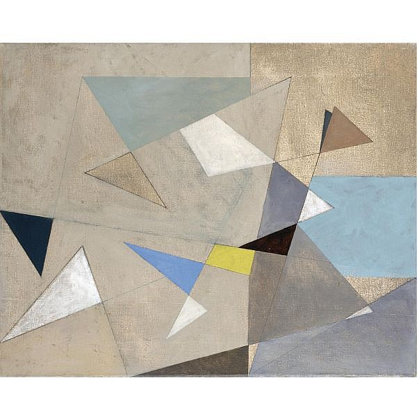 Michael Canney , 1923-1999 composition oil on canvas