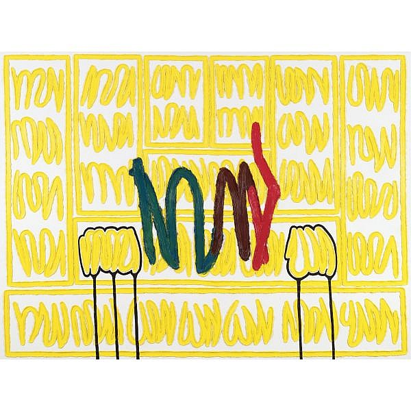 Jonathan Lasker , b. 1948 The Pride of Being oil on linen